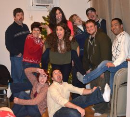 About half of our Student Ministry team, from our 2013 Christmas party.