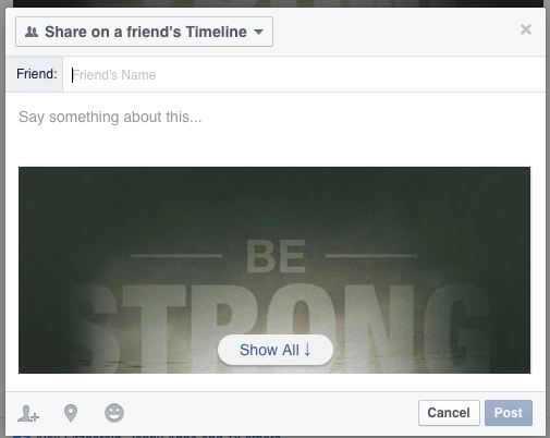 Facebook-Sharing-on-Friends-Timeline